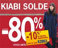 Code réduction kiabi 50