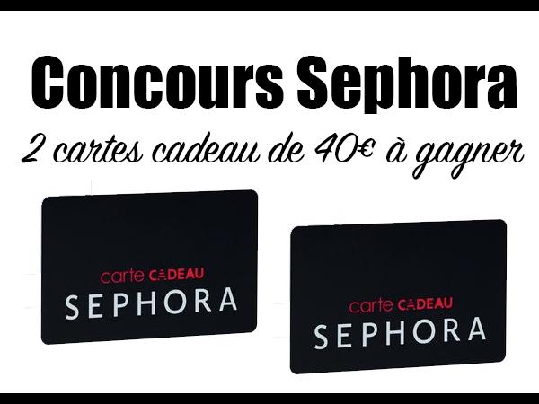 Carte Cadeau Sephora.Concours Sephora Deux Cartes Cadeau De 40 A Gagner