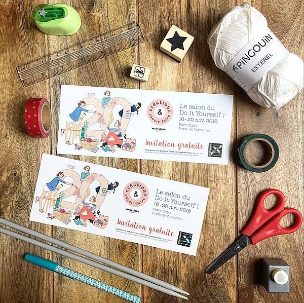 Concours 10 invitations pour le salon cr ations et savoir faire gagner les bons plans de - Salon creation et savoir faire billet gratuit ...