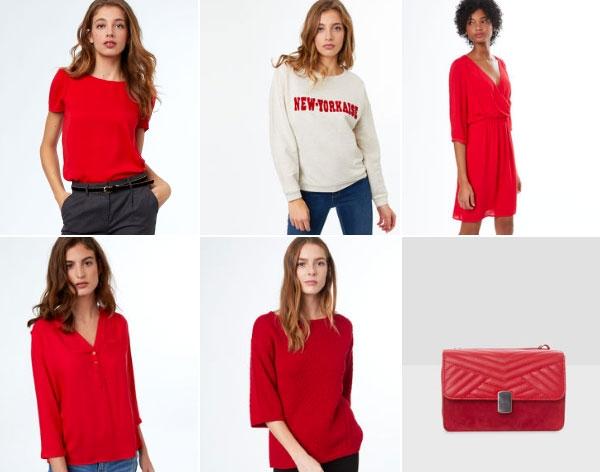 Robe rouge printemps ete 2018
