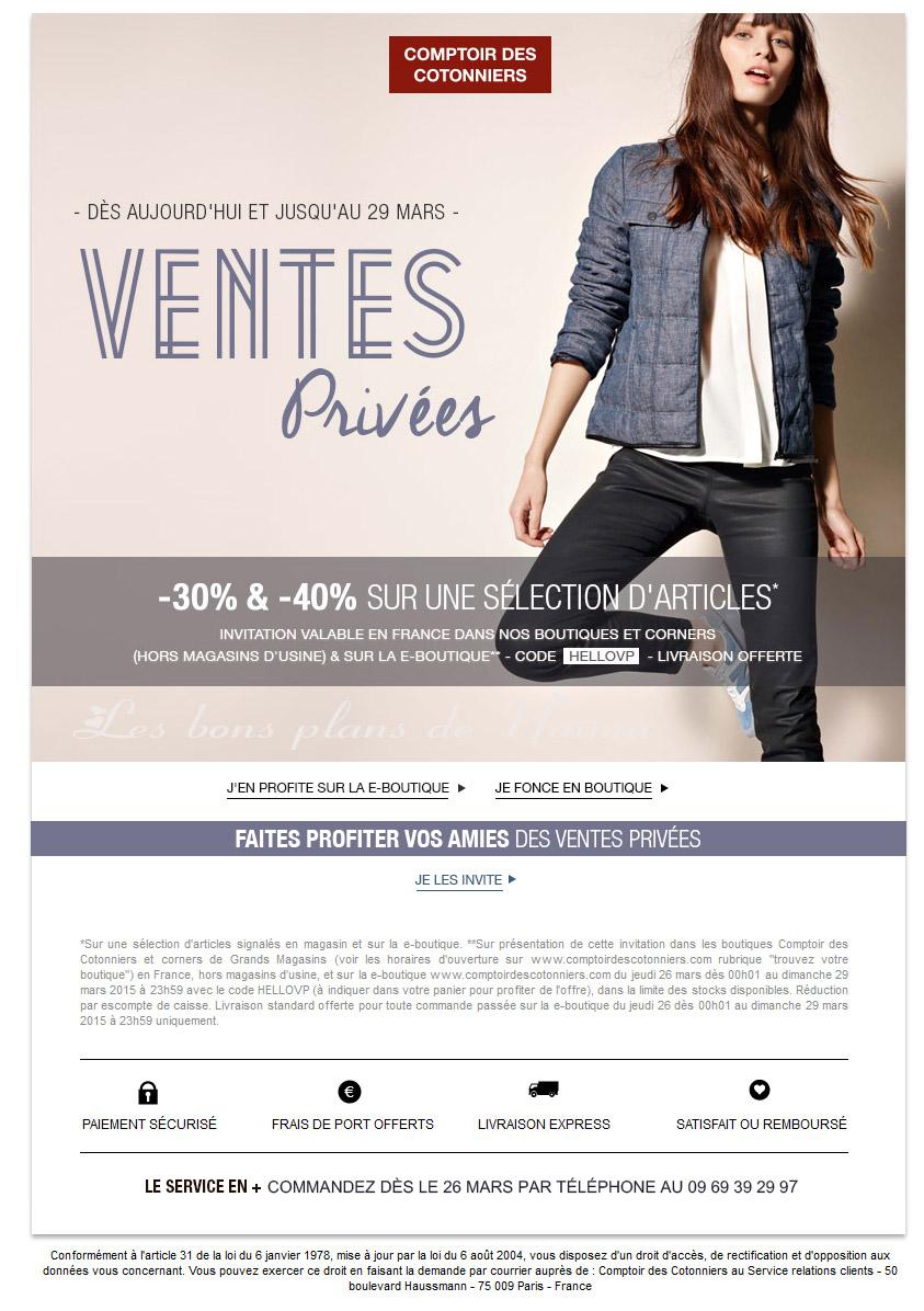Vente Privee Comptoir Des Cotonniers 2015 Les Bons Plans De Naima