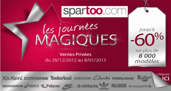 Ventes privées Spartoo Pré soldes Hiver 2013 Les bons