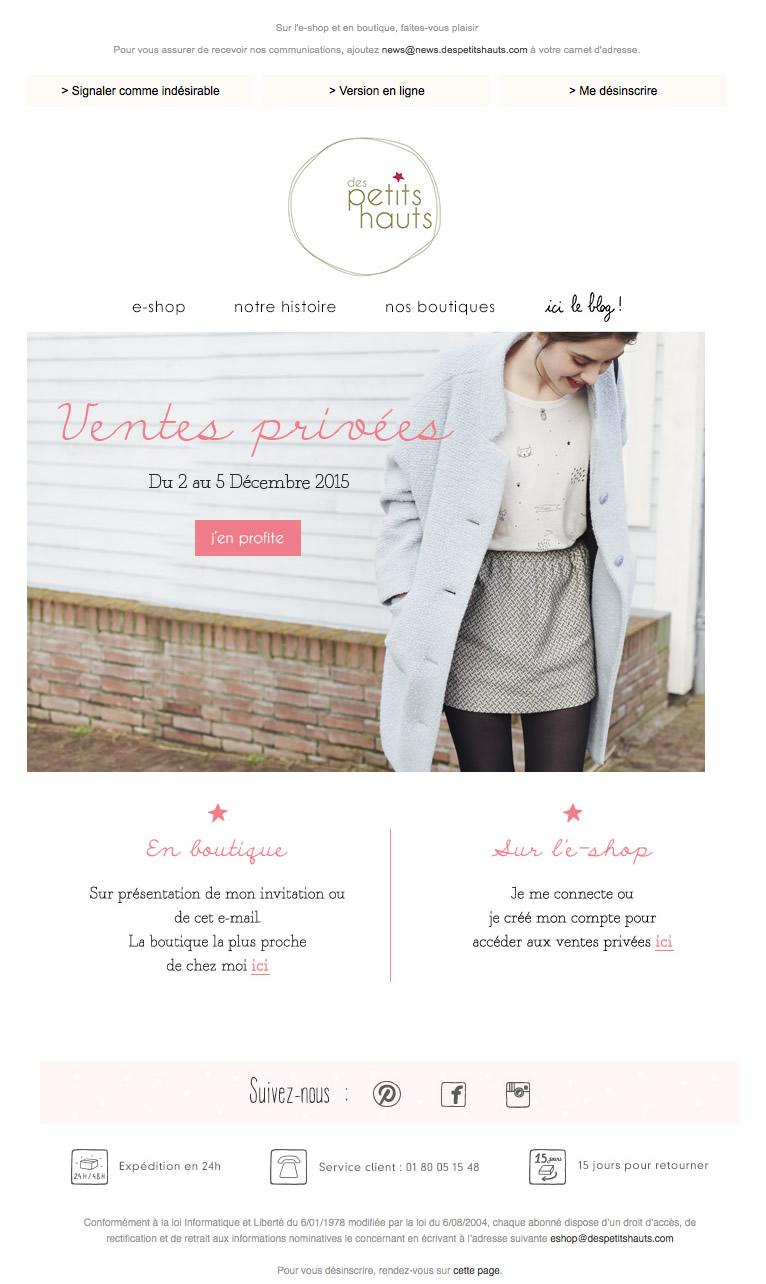 Ventes privées mode - Automne 2015 - Les
