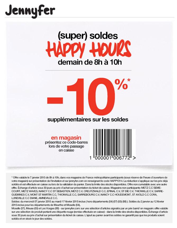 Soldes d'Hiver Jennyfer 10% de remise supplémentaire Les