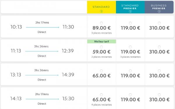 vente privee eurostar