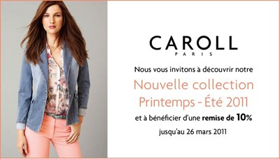 cb293b9d0f02 Caroll collection Printemps-Été 2011   10% de réduction - Les bons ...