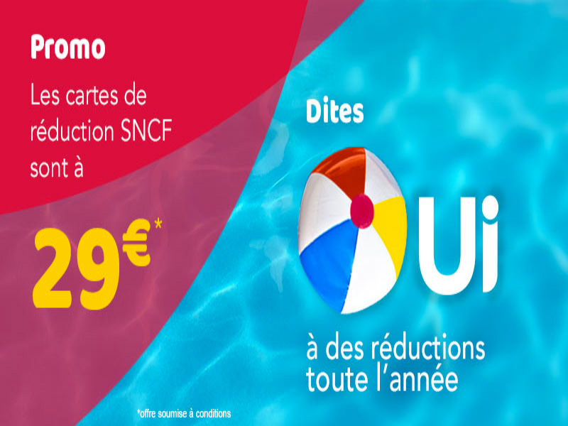 sncf carte jeune promo Carte SNCF à 29€   Toutes les cartes de réduction SNCF en promo !