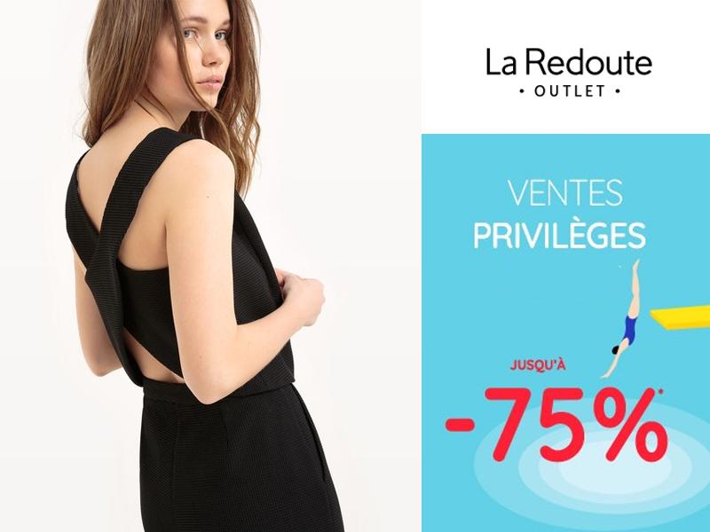 aa68ed709417 Vente privée La Redoute Outlet 2018 avant les soldes d été !