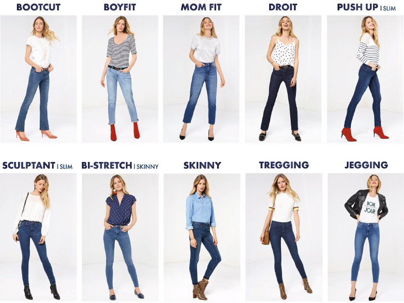 Coupes jeans femme