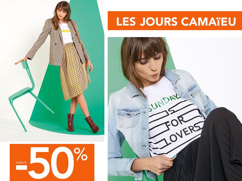 0e6f5160ceb Les Jours Camaïeu 2018. Jusqu à 50% de réduction sur la nouvelle ...
