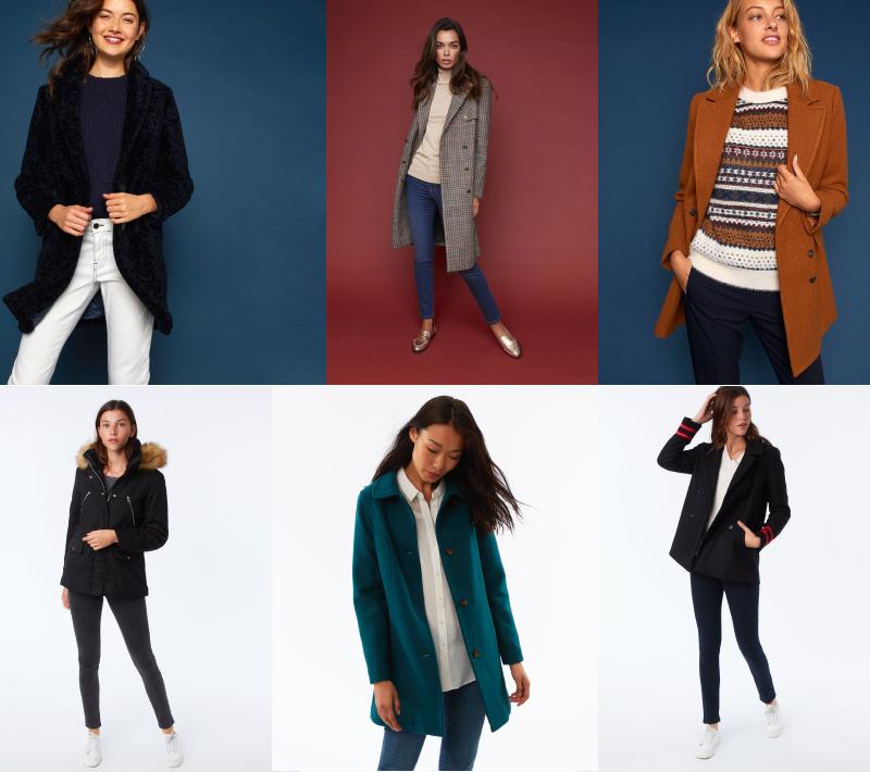 Veste manteau femme patchwork