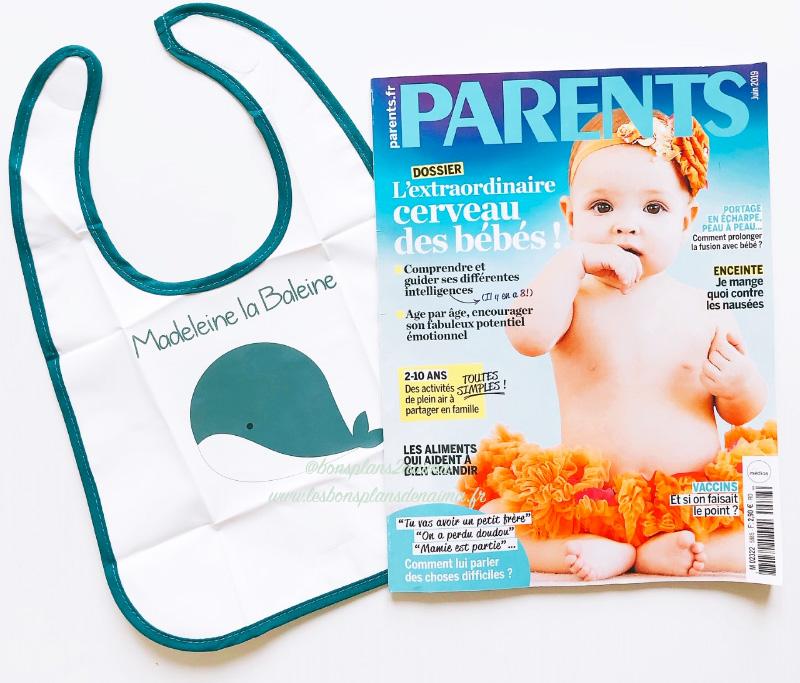 Bavoir magazine Parents